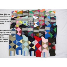 50% Off 24 pairs cotton argyle socks lovers paradise pre-pack