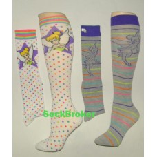 Sale !!!! Disney 2 pack polkadot tinker bell socks