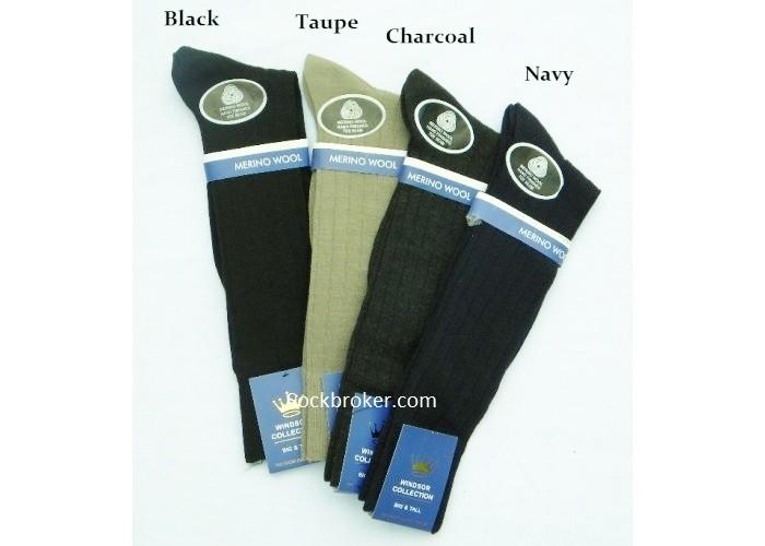 cf5935e2cd68 Big & Tall Premium Windsor Merino Wool Dress Socks