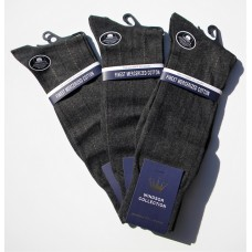 Charcoal 100% Mercerized Cotton Dress Socks- Men's
