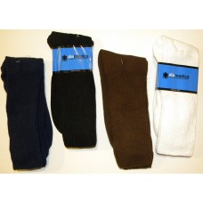 Size 8-12 100% Cotton Comfort Top  Diabetic Crew Socks