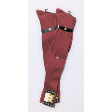 David Eden Cognac Mercerized Cotton Over The Calf Socks