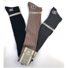 Cotton Ribbed Knee high Trouser socks