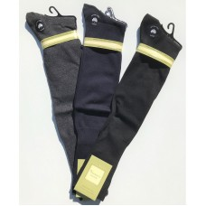 Vannucci Solid Mercerized Cotton Over The Calf Dress Socks