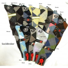Men's mercerized argyle cotton dress socks