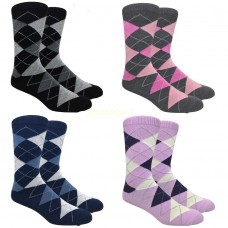 Big Tall Argyle Cotton Dress Socks 13-15