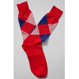 Red, White & Blue Cotton Argyle Dre..