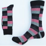 Black Pink Gray square box cotton a..