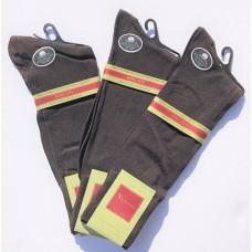 33% Off 3 Pairs Vannucci Brown Big & Tall Mercerized Cotton  Dress Socks