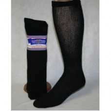 13-15 U.S.A 12 PACK Black Cotton comfort top diabetic over the calf socks