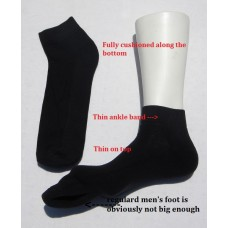 13-16 Pack of Vannucci big and tall ankle padded cotton socks
