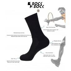 6pak Big Tall All Sports Cotton Padded Crew Socks w /Arch sup