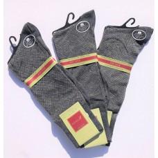 33% Off  3 Pack Charcoal Big & Tall Designer Cotton Patterned Dress Socks