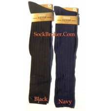 EZ Wide Top Microfiber Over The Calf Dress Socks