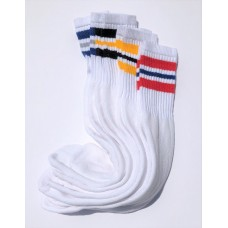 Big Tall Old School Striped Tube Crew Socks XL