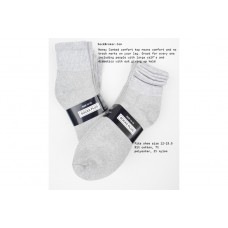 12 Pairs Gray Big and Tall Comfort Top Cotton Ankle Socks 13-15