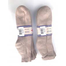 6 pairs 13-16 Beige U.S.A Made Ankle Cotton Diabetic Crew socks