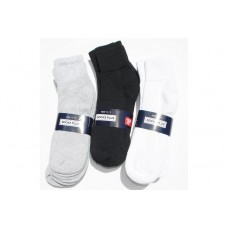 6 Pack Big and Tall Comfort Top Cotton Ankle Socks