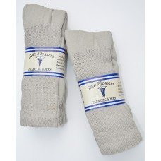 13-15 U.S.A made 6 Stone  khaki Cotton comfort top diabetic crew sport socks