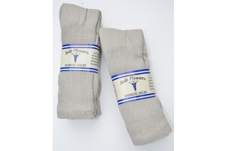c2d02a774974e 13-15 U.S.A made 6 Stone khaki Cotton comfort top diabetic crew sport socks