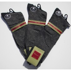 50% Off  3 Pack Charcoal Big & Tall Designer Cotton Patterned Dress Socks