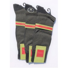 30% Off 3 Pack Black Big and Tall Mercerized Cotton Dress Socks