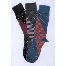Vannucci Imperial Big & Tall Mercerized Cotton Dress Socks