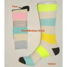 Striped cotton dress casual socks by finefit