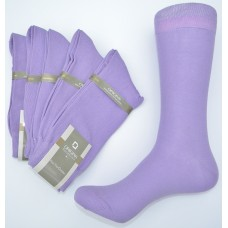 Dark lavender mercerized cotton dress socks