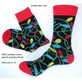 Cotton Christmas  lights socks sz 6..
