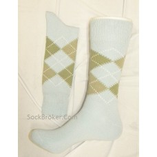 !!Sale Light blue argyle socks for men brass boot