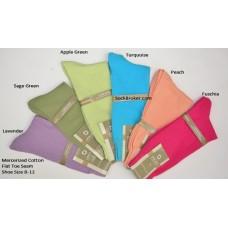 6 pairs Thin classic mercerized cotton dress socks
