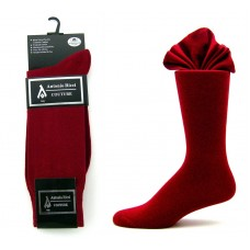 Premium burgundy cotton dress socks-Men's