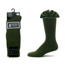 Premium Mercerized Cotton Olive Green Dress Socks-Men's