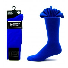 Premium Ricci Couture royal blue cotton dress socks sz 7-12