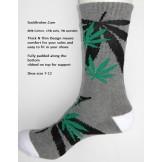 Charcoal gray marijuana leaf padded..