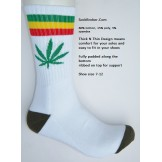 White with red and green striped ma..