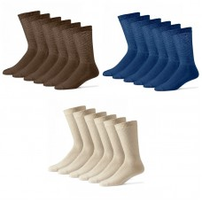 U.S.A made 12prs Cotton Comfort Top Diabetic Crew Socks