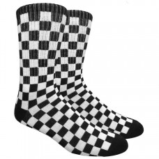 Black White Checkered Board Padded Crew Socks sz 5-11