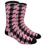 Pink / Black Houndstooth Cotton Dre..