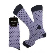 Lavender and White Polka Dot Dress Socks
