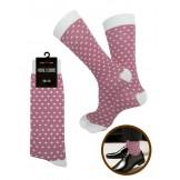 Pink and White Polka Dot Dress Sock..