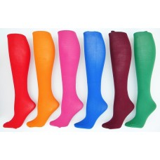 Thin over the calf tube dress socks
