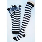 Black and white cotton thick stripe..