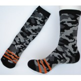 Black/ Gray Camouflage Padded Cotto..