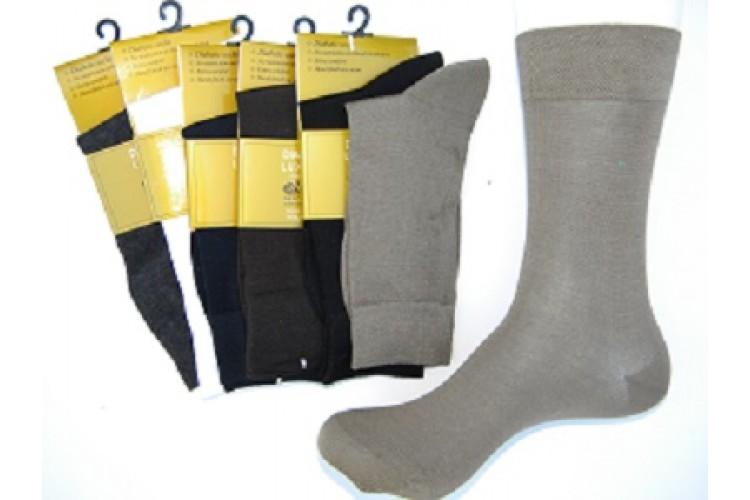 Mercerized Cotton Diabetic Comfort Top Dress Socks Size 8 12