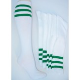 White knee high with three kelly gr..