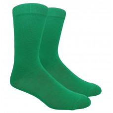 Kelly green cotton dress socks-Men's 7-12