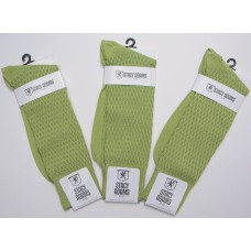 Lime Green  textured rayon formal dress socks by Stacy Adams size 8-12