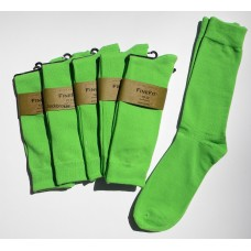 6 pairs Groomsmen Light Kelly Green Cotton Dress Socks Men's